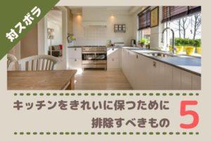 ズボラがキッチンをきれいに保つために排除すべきもの5点